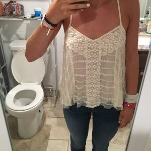 Cream top from American Eagle